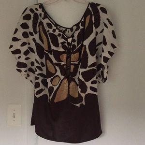 Bebe giraffe printed blouse